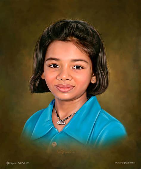 kid digital kid digital painting portrait painting of child