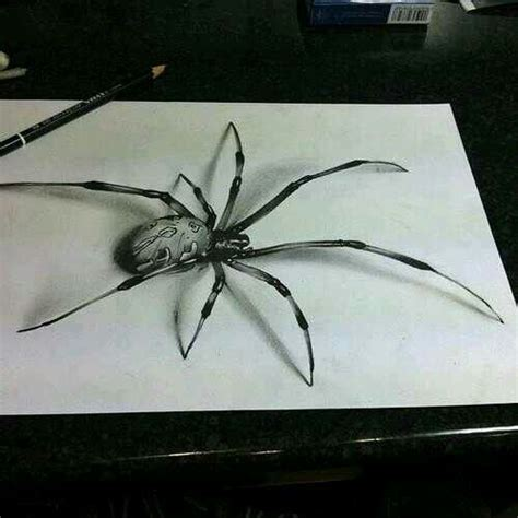 tattoo 3d drawing spider drawing 3d amazing drawings pinterest spider