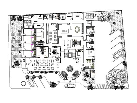 hotel floor plan dwg 2d cad 4 star hotel plan cadblocksfree cad blocks free