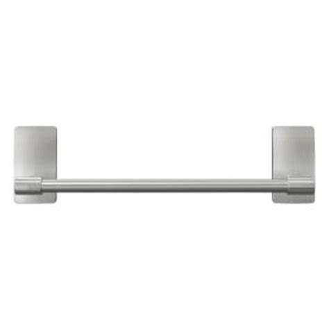 Command Towel Rack by Command Satin Nickel Towel Bar With Water Resistant Strips