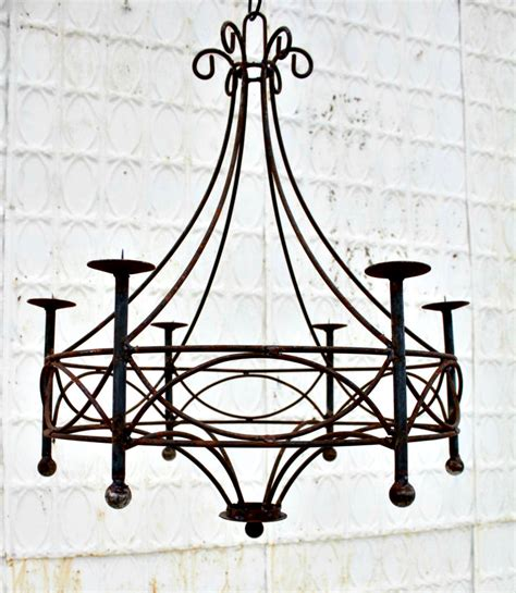 wrought iron chandelier candle lighting candelabra