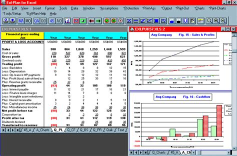 screen shot business plan software template financial