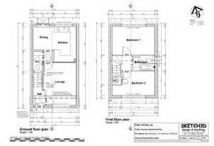 floor plans return top sub and joist example house bedroom end terrace built let