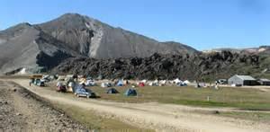 Mountain huts in landmannalaugar in south iceland interior
