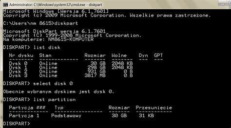 diskpart format ssd windows 7 25 porad jak przyspieszyć dysk ssd w windows 7 vista i xp