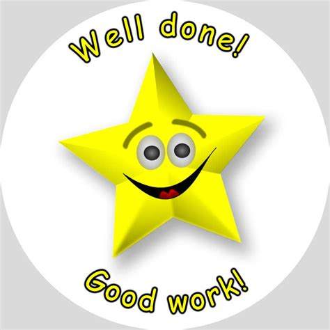 Well Done gold well done sticker bag labels