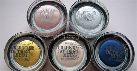 review and swatches maybelline eye studio color tattoo