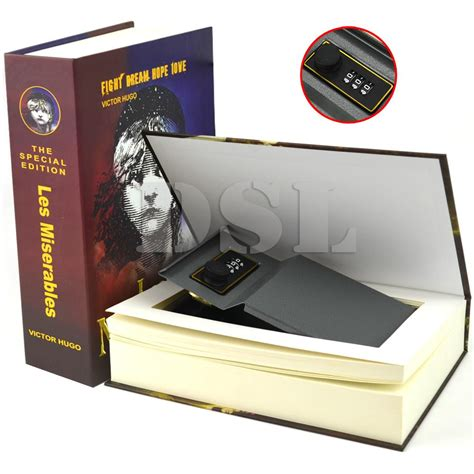 Safety Box Brankas Homesafe Booksafe Storage homesafe real book safe key combination metal security money box 3 size 7 design ebay