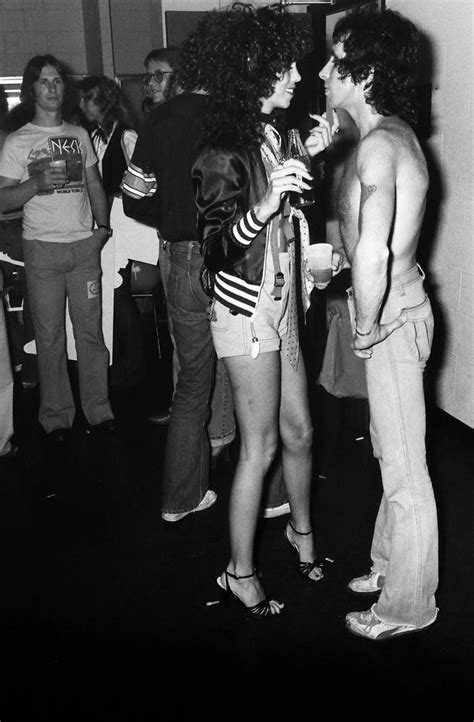 backstage with ac dc ac dc s bon backstage with a groupie 1978