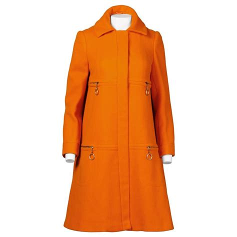 Orange Swing Coat quant vintage 1960s mod orange wool trapeze swing coat with ring pulls at 1stdibs