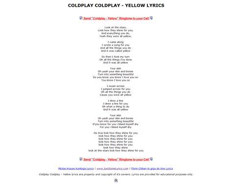 coldplay birds lyrics yellow lyrics driverlayer search engine