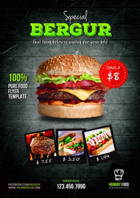 template flyer burger 9 beautiful burger flyers free premium templates