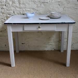 Vintage Enamel Kitchen Table Vintage Enamel Top Table Tables Furniture