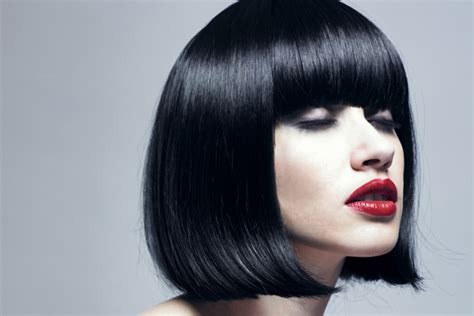 hairstyles blunt cut bob the classic bob with bangs