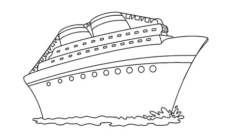 un barco dibujo barco para colorear www imgkid the image kid has it