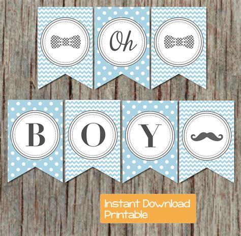 printable banner baby shower boy oh boy printable baby shower banner powder blue grey