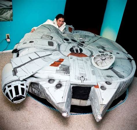 millennium falcon bed millennium falcon bed tickles us with its geeky force