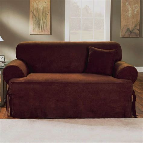 Slipcovers For Sofas And Chairs Gray T Cushion Chair Slipcover Surefit 41460 2 Stretch