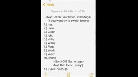 5 Letter Words Gamertag og semi og four letter gamertags