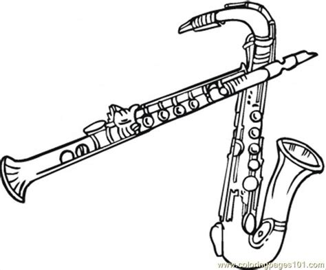 coloring pages jazz instruments coloring pages two saxophones entertainment gt instruments