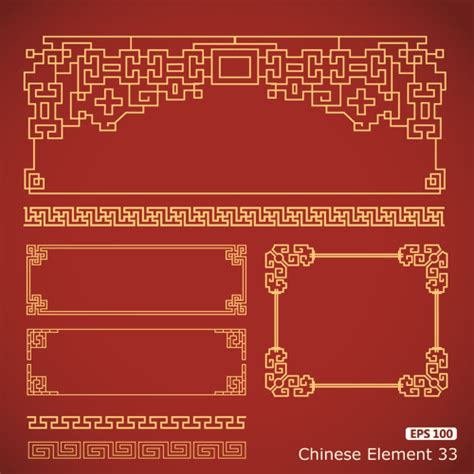 chinese pattern frame vector free vector frame with borders chinese styles vector vector