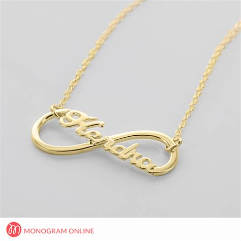infinity necklace gold sterling silver infinity name necklace monogram