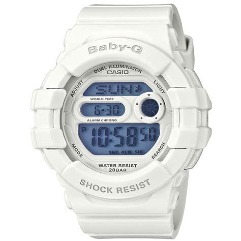 Casio Baby G Rubber Blue White casio baby g white 200m water resist world time alarm