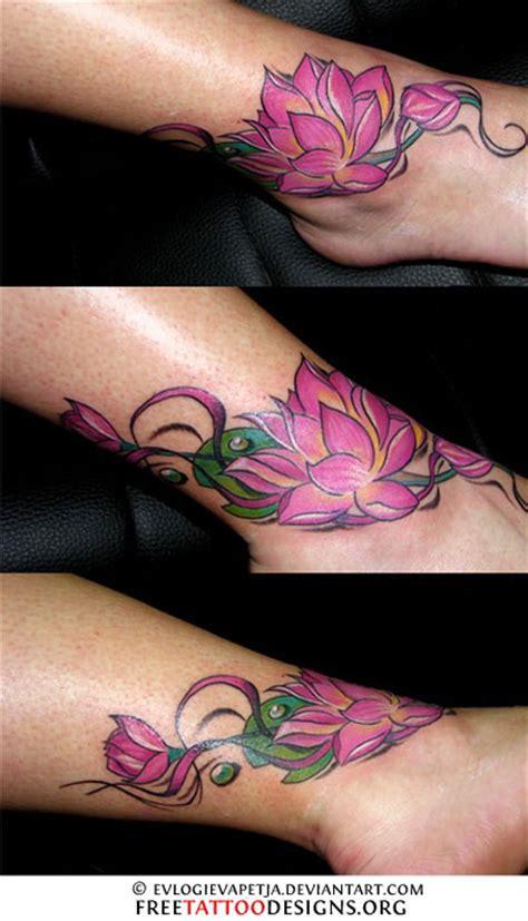 tattoo lotus ankle 69 ankle tattoos