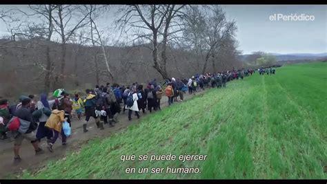 marea humana humanitarismo para la foto