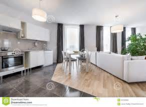 Interior Design For Small Living Room And Kitchen Modern Interior Design Living Room With Kitchen Stock Photo Image 44126399