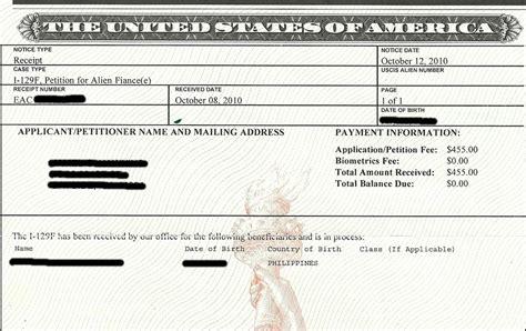 my k1 fiancee visa experience noa 1 notice of form