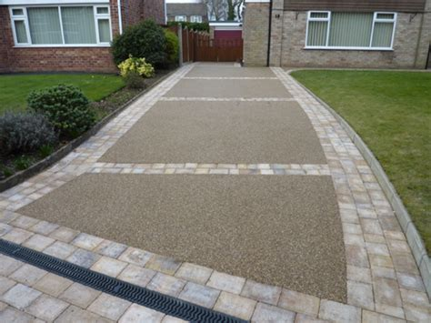 resin bonded natural stone hermitage driveways cheshire driveways pattern imprinted concrete