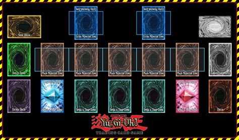 yu gi oh link card template yu gi oh playmat template 2017 link version by