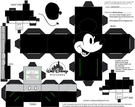 And Friends Papercraft - dis1 mickey mouse cubee by theflyingdachshund on deviantart
