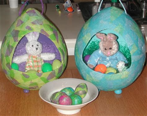 Paper Mache Craft - 15 diy paper mache eggs guide patterns