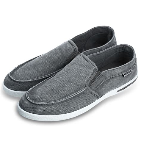 Canvas Slip On Sneakers new summer canvas breathable slip on sneakers loafers mens