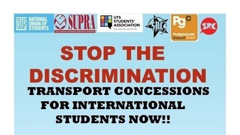 petition 183 stop the discrimination transport concessions for international students now