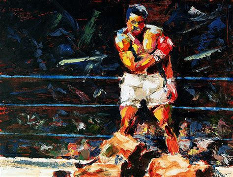 muhammad ali painting 59 00 muhammad ali by derek russell royalty free and rights