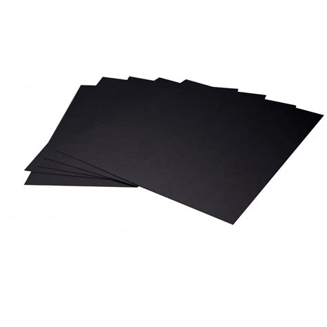 11x14 Mat Board by Arista Mat Board 11x14 4 Ply Black Both Sides With Black