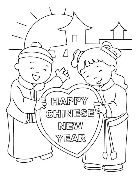 preschool coloring pages chinese new year new year coloring pages chinese happy quoteko