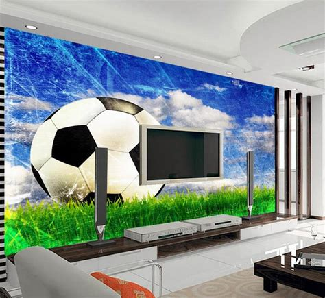 Dekorasi Custom1 high quality grosir football dinding mural dari china football dinding mural penjual