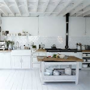 superb How To Clean Old Kitchen Cabinets #4: Living-etc.rustic-white-kitchen.jpg