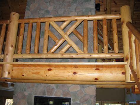custom log railings rustic wood ryans rustic railings