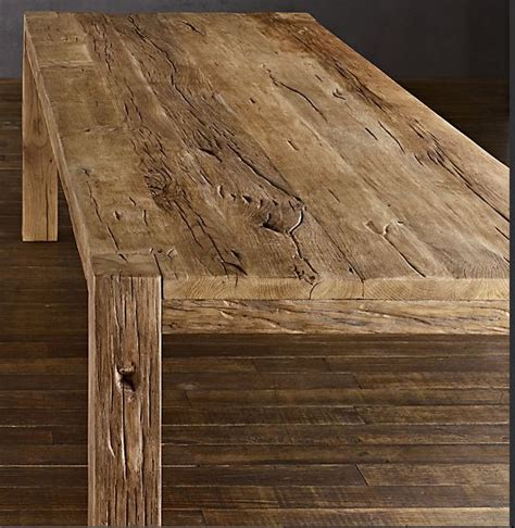 parsons table restoration hardware parsons reclaimed oak dining table restoration