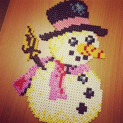 hama snowman 71 best images about pyssla on perler bead