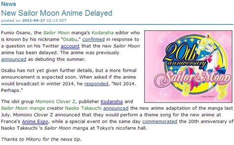 Anime News Network by Is It 2013 Yet A New Sailor Moon Anime