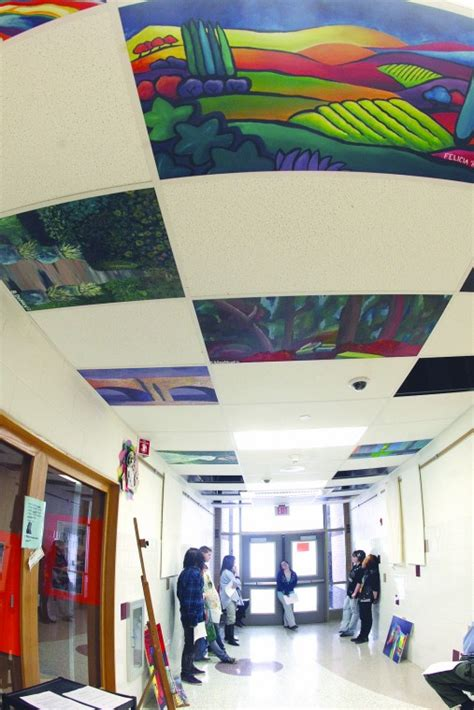 artists look upward waterloo high school art students