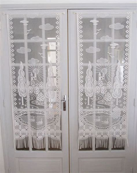 french lace curtains france french white lace curtains french door chateau curtains
