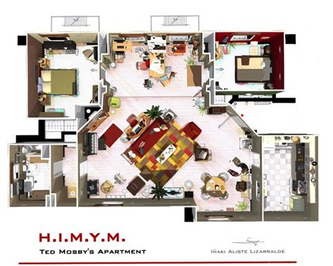 barney stinson wohnung how i met your s wohnung in 3d homebyme