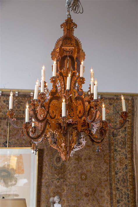 wood bead chandelier park harbor jig cut wooden chandelier at 1stdibs